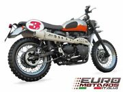 For Triumph Scrambler Carbureted Model Zard Exhaust Full System High Cream Color