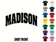 City Of Madison College Letters T-shirt 372 - Free Shipping