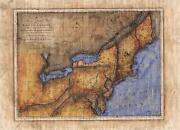 84 Accurate Part Of North America 1771 Vintage Historic Antique Map Poster Print