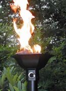 Cast Aluminum Gulf Style Automated Tiki Torch With Aluminum Pole - Ng