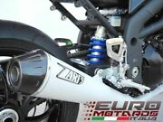 For Triumph Speed Triple 2005-2010 Zard Exhaust Full System White + Carbon Cap