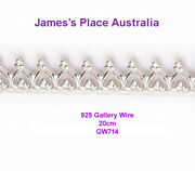 Gallery Wire - 925 Sterling Silver - Various Styles