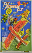 Human Torch Fly Avengers Fly Flying Super Heroes Toy 1976 Fleetwood Marvel Rare