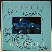 Original Dale Chihuly Ink Drawing On Cover Of Baskets Art Glass Book. Signed