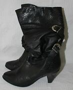 Womenand039s Leathercraft Black Boots By Premiere Collection 7 1/2b Anne 51750