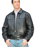 Reed Mens New Zealand Lambskin Leather Jacket Style 1070z Black Brand New Wtags