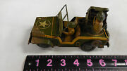 Rare Vintage Japan Tin Friction Military Air Commander Toy Jeep 006366