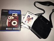 Red Polaroid 300 Instant Camera With 2 Packs Of Film And Carrying Case