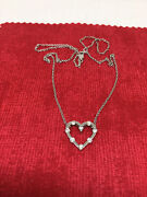 Hearts On Fire Floating Heart Diamond Necklace 18k White Gold Retired