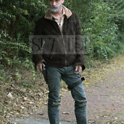 Screen Accurate Rick Grimes Andrew Lincoln The Walking Dead Suede Leather Jacket
