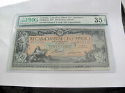Canada Canadian Bank Of Commerce 10 Dollars 1917 Large Banknote Vf35-pmg