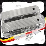 Ball Milled Aluminum Tall Valve Covers For 65-95 Chevy Bb 396 427 454 502