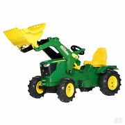 John Deere Childrens Pedal 6210r Tractor With Loader Kids Ride On Farm Toy