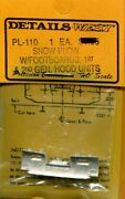 Details West 110 X Ho Snow Plow W/footboards 1st And 2nd Generator Hood Units