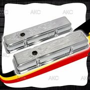 Pinstriped Steel Short Valve Covers For 58-86 Chevy Sb 283 305 327 350 400