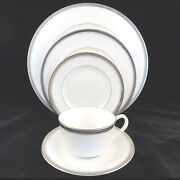 Royal Worcester Baroness 5 Piece Place Setting New Never Used Made In England