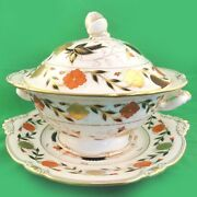 Royal Crown Derby Asian Rose Soup Tureen And Under Platter New Never Used England