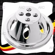 1 Groove Chrome Finish Aluminum Water Pump Pulley For Chevy Sb Short Water Pump