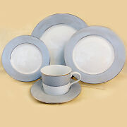 Grey Dawn Platinum By Block Spal 45 Piece Set New Never Used Porcelain Portugal