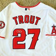 Mike Trout Signed Autograph Los Angeles Angels Jersey Mvp Mlb Rare