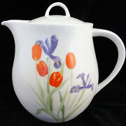 Just Cut Block Spal Tea Pot 6.75 Tall New Never Used Porcelain Made In Portugal