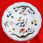 Oiseaux De Paradis By Gien Bread And Butter Plate 6.5 Diameter New Never Used