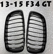 Gloss Black Painted Front Grilles Grille 13-15 For F34 Gt 335i 328i