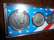 1900 Coin Set, Barber Half, Quarter, And Dime, V Cents And Indian Head Penny