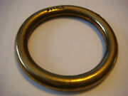3/16 Solid Brass Ring 1 3/4 Outside D Made Italy Nos 1 1/4 Inside