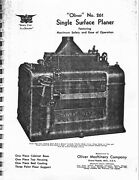 Oliver No. 261 Surface Planer Manual And Parts List Pdf