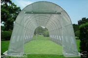 Green Garden House Walk In Greenhouse 33and039x13and039 + Mesh Cover