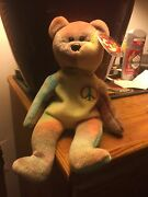 Ty 1996 Beanie Baby Peace Bear Tag Included In Collector Case