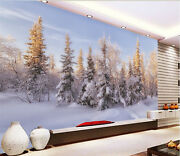 3d Snow-covered Forest 1733 Wallpaper Decal Dercor Home Kids Nursery Mural Home