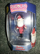 Enesco 2000 Santa Claus Hunting Rudolph Red Nosed Reindeer Christmas Ornament