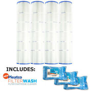 4 Pack Pleatco Pa131 Filter Cartridge Hayward Swimclear W/ 3x Filter Washes