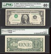 1 1988-a Frn Inverted Overprint=type I=web Note 8/8=pmg Extremely Fine 40 Epq