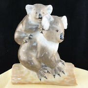 Koala Bear And Baby Figurine Herend Hungary Brown And Grey 5.5 Tall New Never Sold