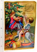Early Christmas Tree Toys Kids Meinecke And Co Toy Store Milwaukee Trade Card F57
