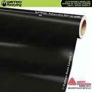 Avery Supreme Brushed Black Metallic Vinyl Vehicle Car Wrap Roll Sw900-193-x