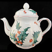 Villeroy And Boch Holly Tea Pot 6.5 Tall New Never Used Made In Luxembourg