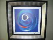 Yaacov Agam Giclee Lithograph On Canvas Sun And Moon Intimacy Abstract Art