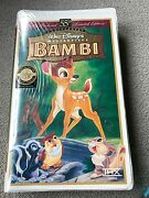 Bambi 55th Anniversary Limited Edition Vhs Factory Sealed Walt Disney 1997