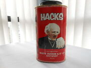 Hacks Advertising Tin 5lb Container Cough Drop Candy White Hudson And Co