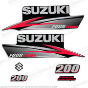 Suzuki 200hp Fourstroke 2010+ Outboard Engine Decal Kit Df200 Replacement Decals