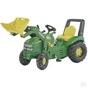 Rolly Toys John Deere Childrens Pedal X Trac Tractor With Loader Kids Ride On