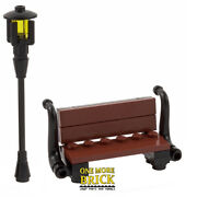 Bench And Lamp - Decorative Park Bench Seat - Custom Design   All Parts Lego