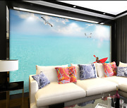 3d Sea Red Boat Paper Wall Print Wall Decal Wall Deco Indoor Murals