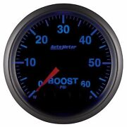 Fits Ford Dodge Chevy Etc Auto Meter Elite Series Boost Gauge 0-60psi..