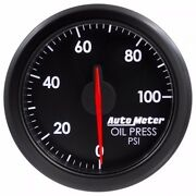 Fits Ford Dodge Chevy Etc Auto Meter Black Airdrive Series Oil Pressure Gauge..