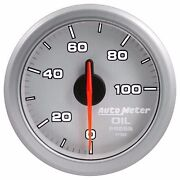 Fits Ford Dodge Chevy Etc Auto Meter Silver Airdrive Series Oil Pressure Gauge..